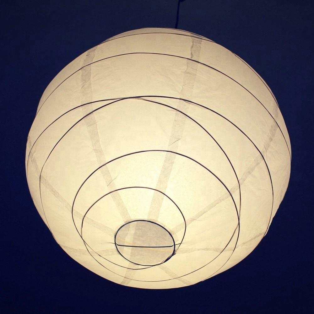 Wholesale Handmade Hanging White Round Tissue Lamp Led Paper Lantern