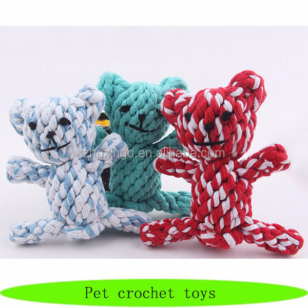 Cute wholesale pet crochet toys, pet pals toys, dog toys europe
