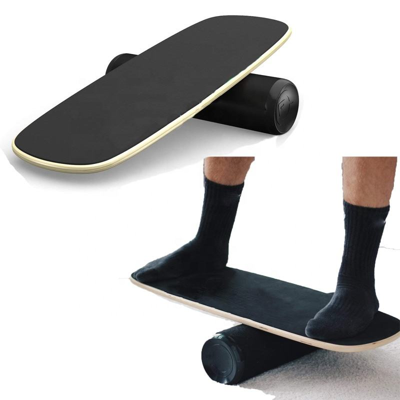 Outdoor Sports Exercises Wooden Balance Board Rocker Board Wobble Balance Rooer Sheet With Balance Disc