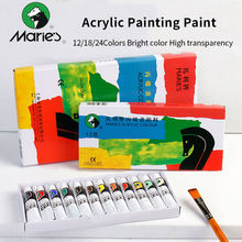 Maries Professional Acrylic Paints DIY paint on Canvas/Wood/Wall 12/18/24 Colors 12ml Acrylic Paint Set