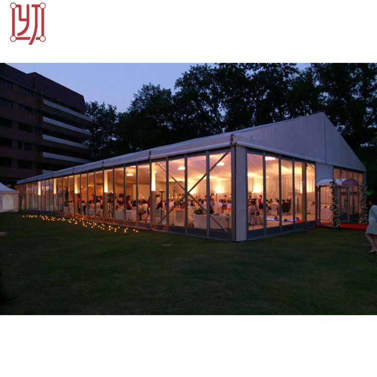 5x10 aluminum structure pvc outdoor winter glass wall party marquee wedding tent for outdoor