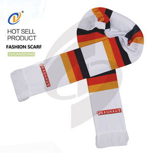 soccer accessories printing country sports shawl knitted sport scarf custom