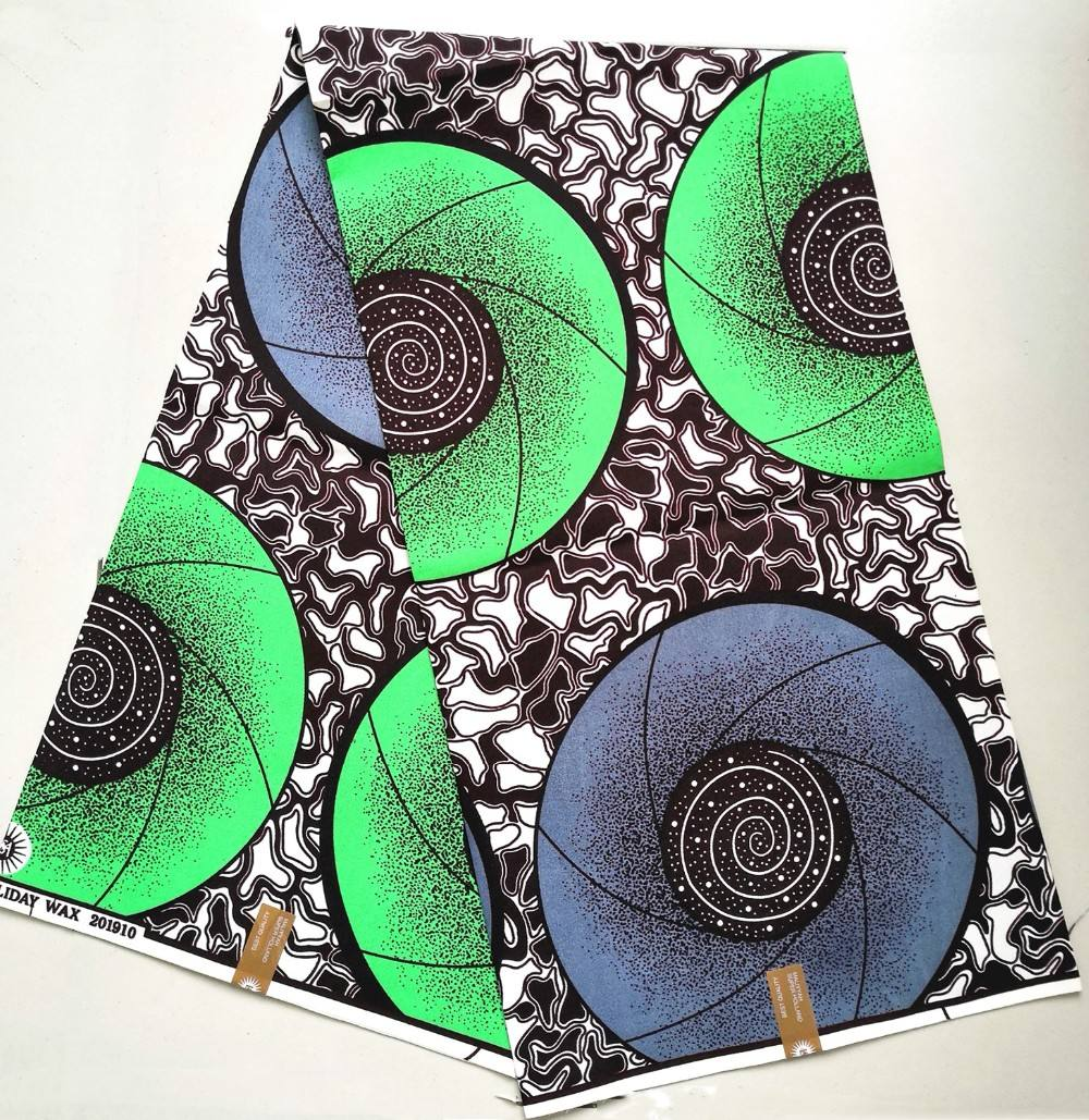 Hot sale african polyester fabric double side printed wax fabric