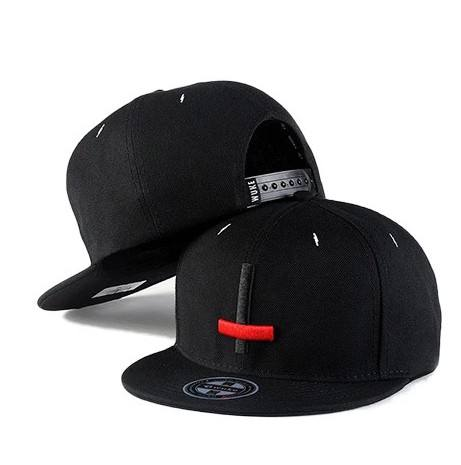 Ready to ship flat brim 100% cotton snapback cap hat with embroidery logo