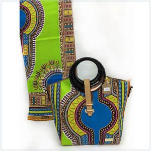 Heiße Verkäufe afrikanische Hand Passende Wax Stoff Lady Handtaschen