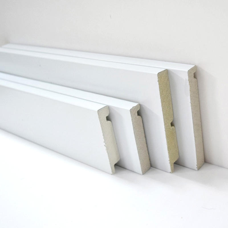 Buy Cheap Highly Durable Finished White Wall Flooring Vinyl Skirting Board
