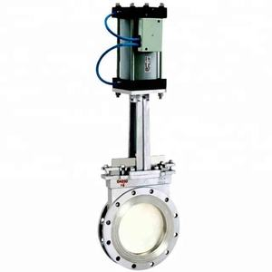 pn16 dn100 Pneumatic Stainless Steel knife Gate Valve price