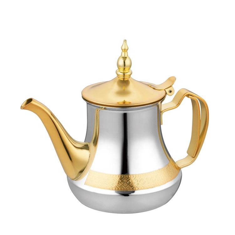 Hot sale moroccan turkish style 26oz 36oz 48oz 60oz teapot set stainless steel tea pot