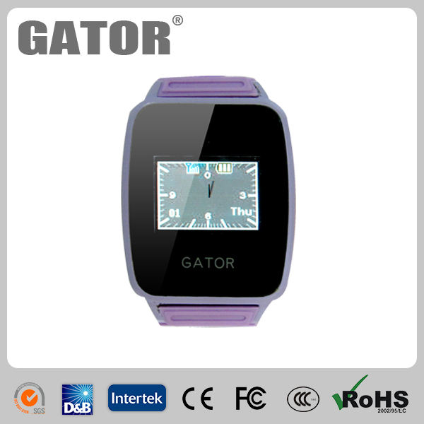 2.5 pulgadas de pantalla táctil a prueba de agua gsm gps reloj tracker para personas de edad de los niños niño- caref reloj