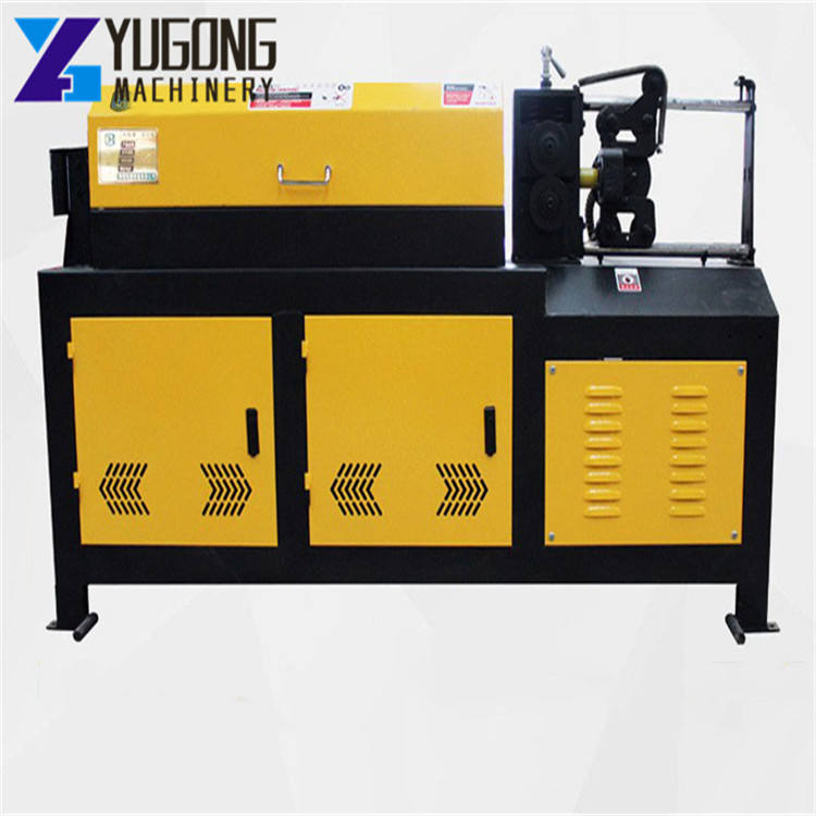 Horizontal Steel and Brass Rod Bar Straightening Cutting Machine