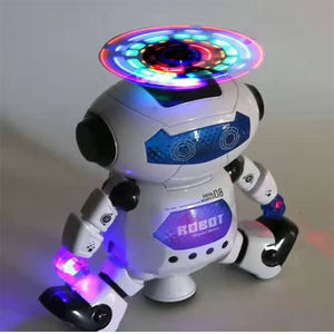 Dancing robot with light and music, cute lovely robot christmas festival gift toys popular for kids 360 degree