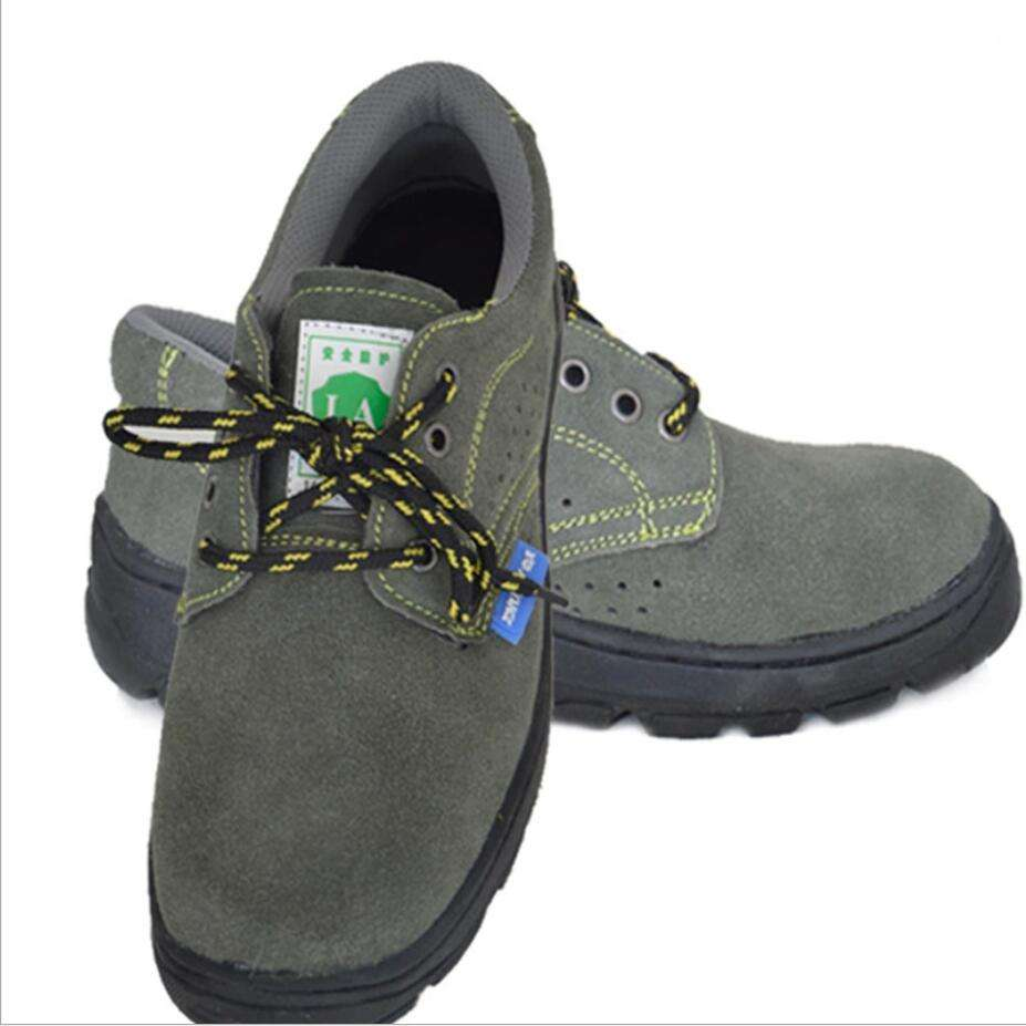 Summer Stylish workerwear engineering Steel Toe Cap Safety Working Shoes anti smashing/ puncture permeable