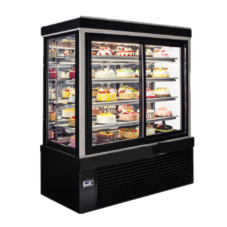 Best Selling Cake Showcase Display Cooler Freezer With CE Certificate
