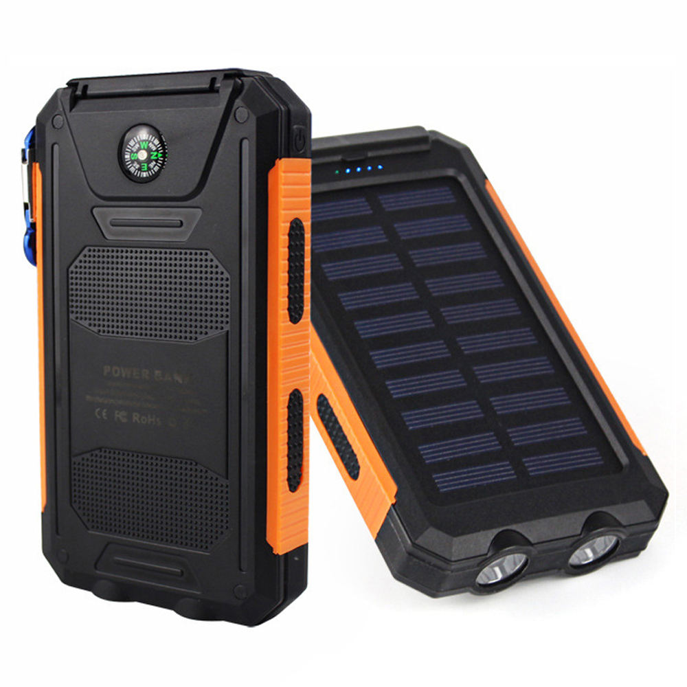 Super slim rohs solar power bank 10000 mah