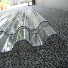 Transparent polycarbonate corrugated wave plastic roofing sheet for workhouse daylight roof