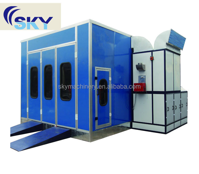 SB100, Large bus spraybooths with industrial paint systems electric heater spray booth