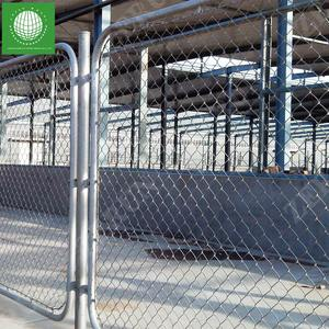 8 foot pvc coated galvanized used temporary chain link fence wholesale