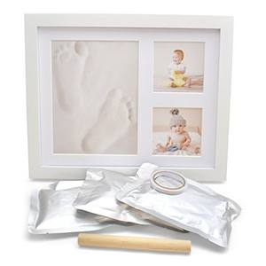 Commercio all'ingrosso best-seller neonato bambino footprint cornice di argilla come baby keepsake regali