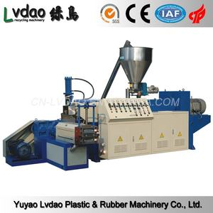 PVC conical twin screw extruder and pelletizing line