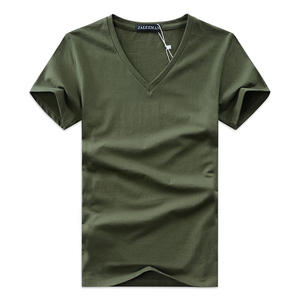 2020 summer Hot selling Men blank V neck t shirt cotton short sleeve tops high quality Casual Men Slim Fit Classic t shirts