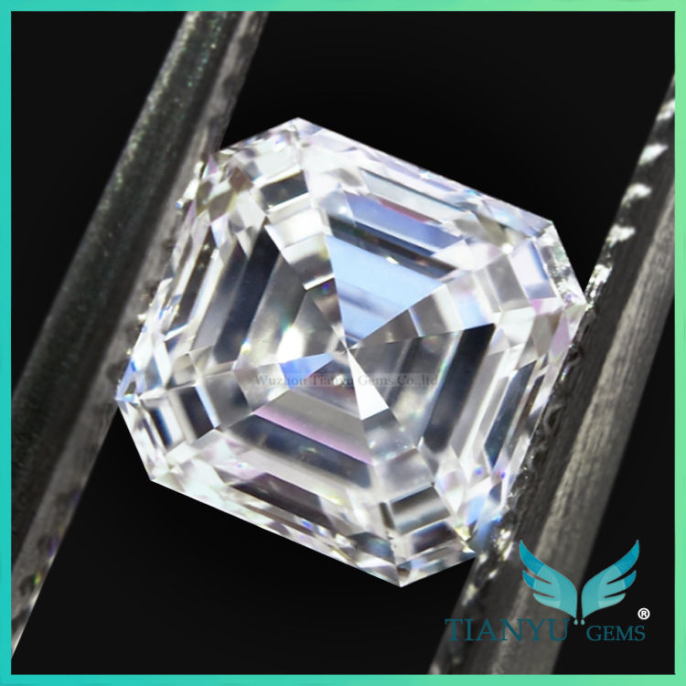 الصين <span class=keywords><strong>مصنع</strong></span> <span class=keywords><strong>asscher</strong></span> قص الاصطناعية الماس للأبد بريليانت المويسانتي الأحجار