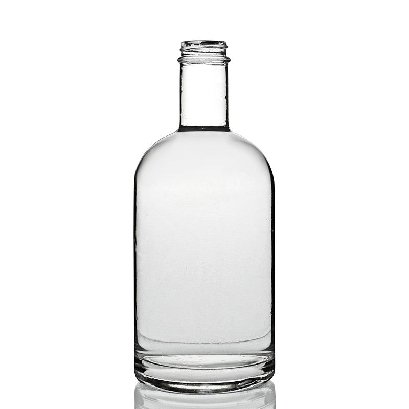 Shandong RSG T Cork Top Cylinder Round Shape 75cl White Clear Super Flint Empty Custom Liquor Round 750ml Glass Bottles