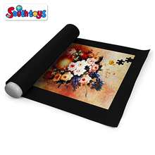 Customize Size Jigsaw Non-Woven Storage Felt Puzzle Saver Carrier Roll Up Puzzle Mat