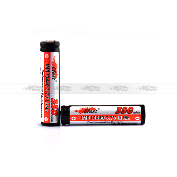 efest IMR Lithium AAA 10440 3.7V Li-ion 10440 350mAH rechargeable battery for Ecig Medical equipement