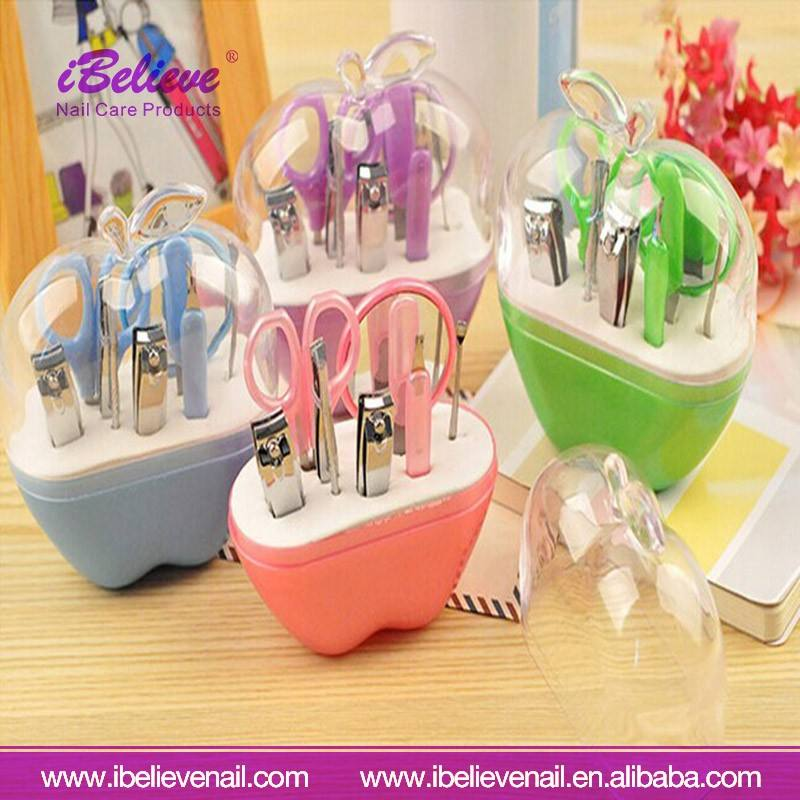 High quality Professional Portable Apple type 9 pcs Remover Cutter Nipper Clipper Manicure Beauty Kits Set
