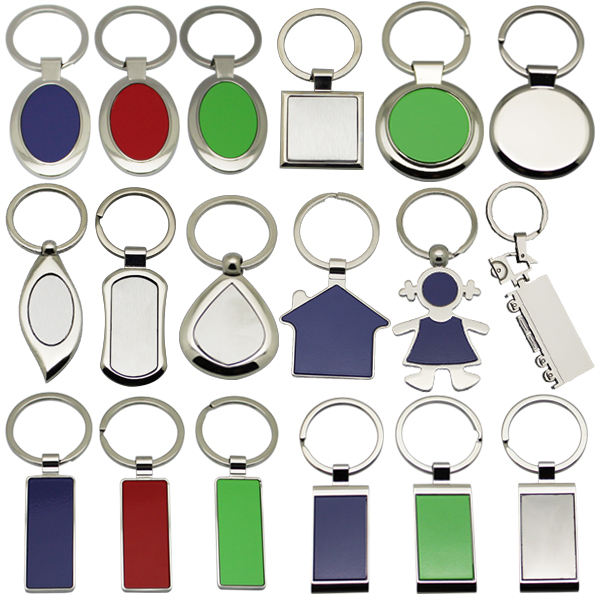 Custom Wholesale Promotional Metal Stainless Steel blanks Keyring