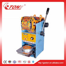 Customized cup sealer/plastic cup sealing machine with plastic film