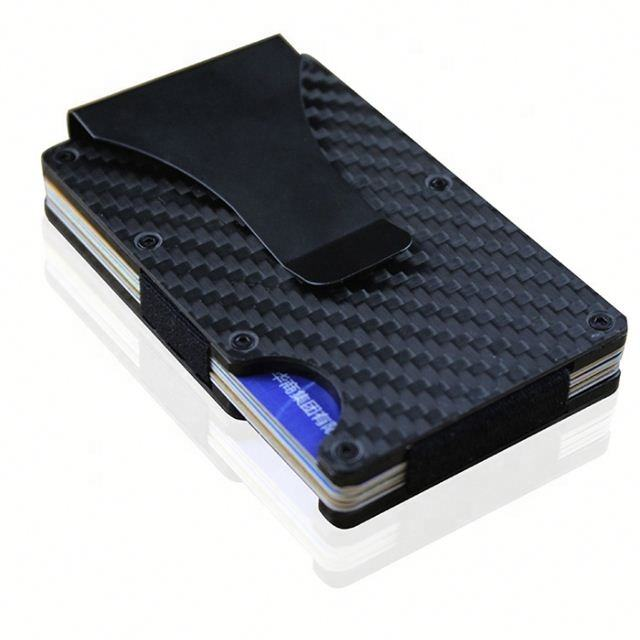 New design RFID blocking credit card holder metal carbon