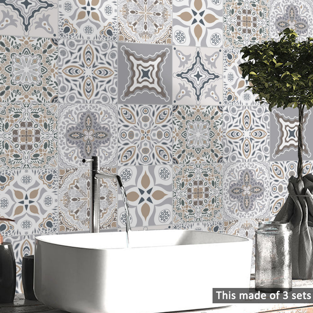 EN71 Moroccan Mosaic Heat Resistant Backsplah Tile Stickers