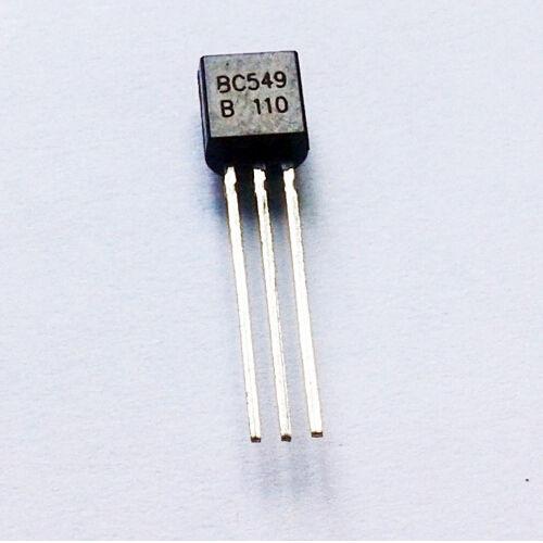 20pcs BC549 BC549B NPN Transistor 0.1A 30V Low Noise Amplifier NEW
