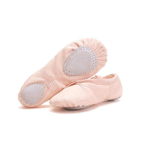 Pink Canvas Foldable Ballet Shoes Cushioned Ballet Pointe Shoes Dance Shoes