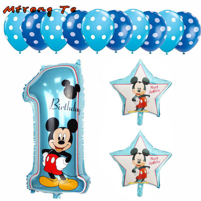 Factory Price Wholesale 13pcs Minnie Mickey helium party balloons for fun