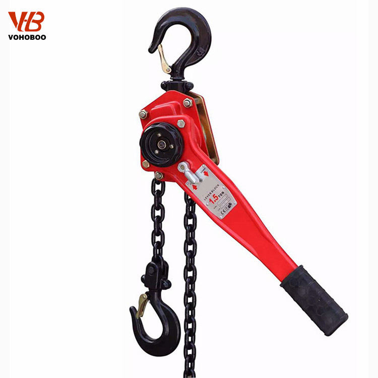 lever hoist va type 1.5 ton 1.5m chain from ISO and CE certificated factory