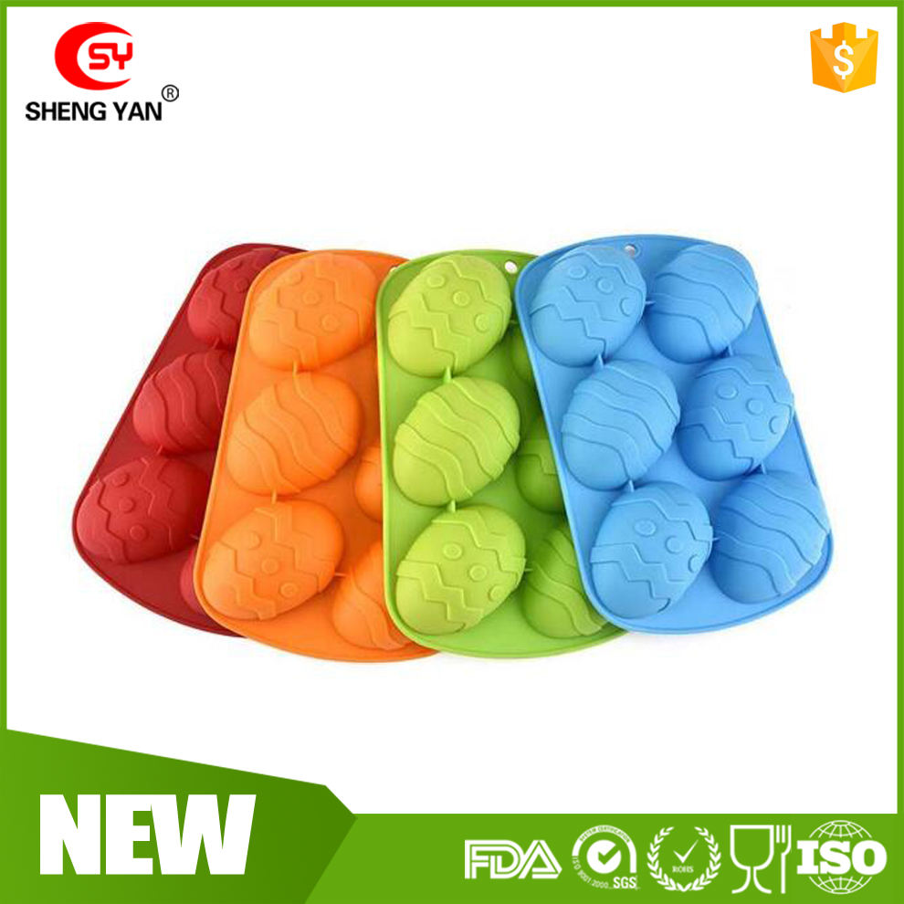 Premium Quality Easter Egg Shape Silicone Bakeware Trays Perfect mold for Cooking & Baking, Soaps, Cakes etc. Dishwasher, Oven