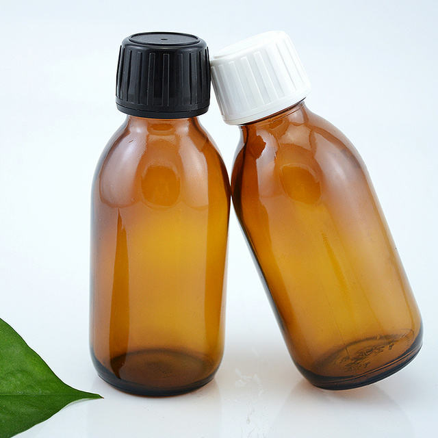 120ML Amber Oral Liquid Glass Bottle For Syrup
