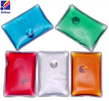 Recyclable hot cold pack ice gel heat pad back