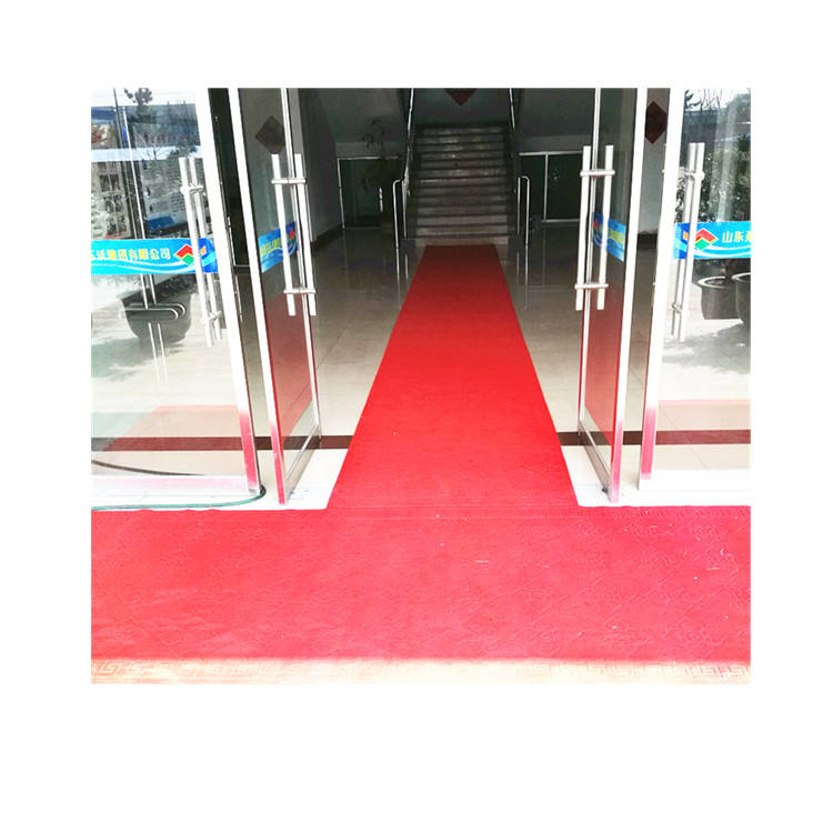 100% polyester or Polypropylene wedding/exhibition/commercial red carpet