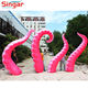 Pink Building decoration giant inflatable octopus arms tentecles for sale
