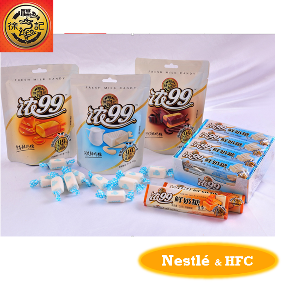 HFC fresh milk Candy with assorted flavour