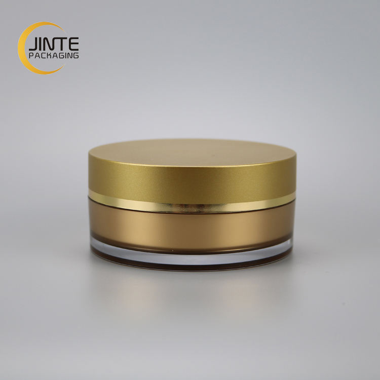 2018 New product face mask jar 100g gold jar with wide mouth