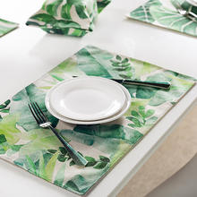 100% cotton canvas digitally photo printing custom made restaurant printed laminated placemat