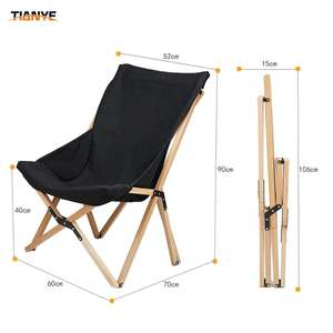Novelty wooden frame compact outdoor camping chair