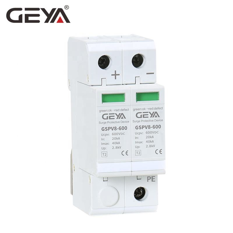 GEYA Hot Selling Photovoltaic Surge Protective Device Solar DC SPD 2P 3P 500V 800V 1000V DC