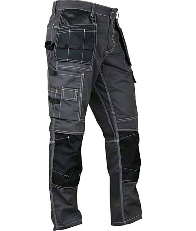 Mens Construction Reinforcement Workwear Trousers Utility Work Pant