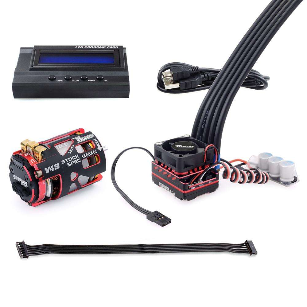 Surpass Hobby rocket 540 V4S sensor brushless motor + 160A ESC combo +LCD cards for 1/10th drifting competition rc cars