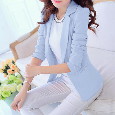 6 Colors Spring Fashion Casual Women Blazers and Jackets Female Slim Coat Long Sleeve Business Ladies Office Work Wear Suit 15%